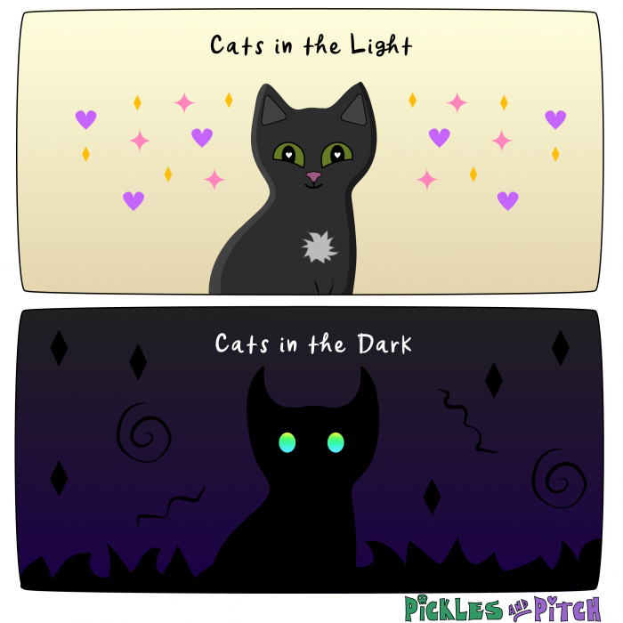 Cats in Light and Dark