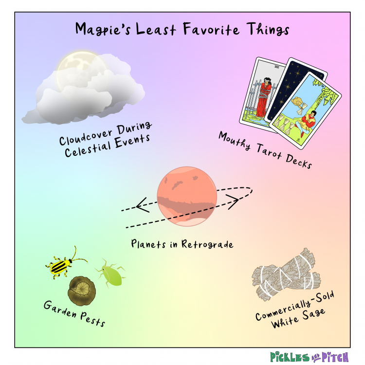 Magpie's Least Favorite Things