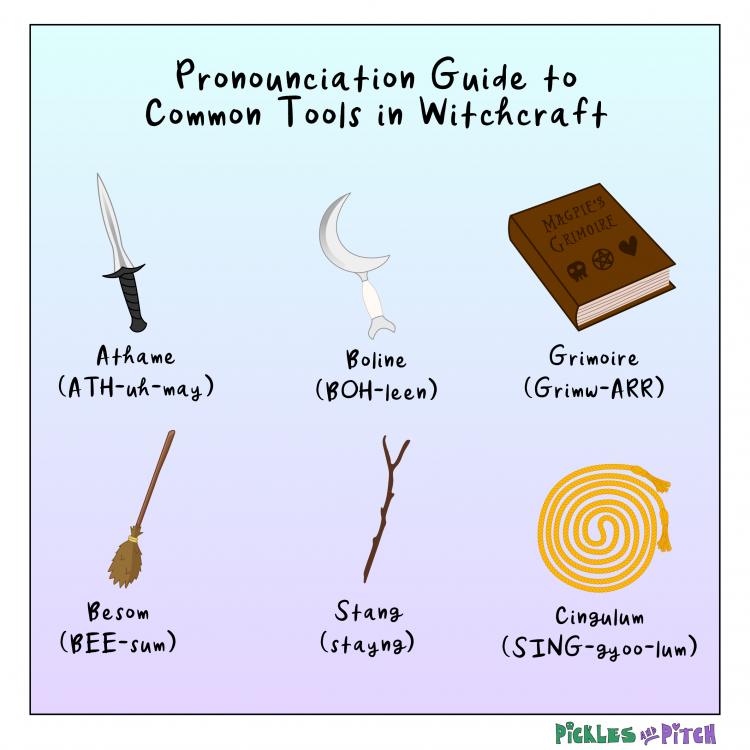 Pronunciation Guide to Common Tools of Witchcraft
